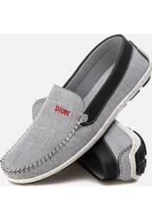 Mocassim Masculino Drive Conforto Jeans Duvelmon Cinza