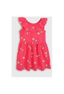 Vestido Gap Infantil Floral Pink