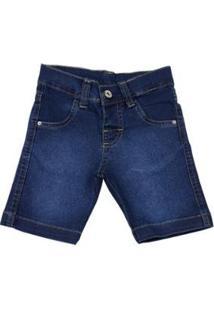 Bermuda Infantil Ano Zero Índigo Júlia Stone Washed Masculina - Masculino-Jeans