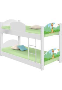 Beliche Infantil Safari Girafa Com 2 Colchãµes Casah - Branco/Verde - Dafiti