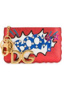 Dolce & Gabbana Porta-Moedas 'Boom' De Couro - Vermelho