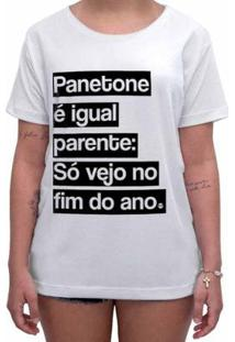 Camiseta Impermanence Estampada Panetone Feminina - Feminino-Branco