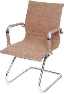 Cadeira Escritorio Eames Fixa Courissimo Retro Castanho 37615 - Sun House