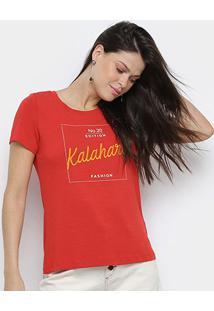 Camiseta Mob Kalahari Feminina - Feminino-Vermelho
