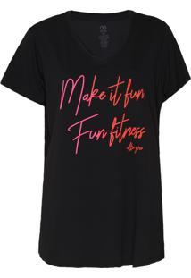 Camiseta Alto Giro Fit Make It Preta