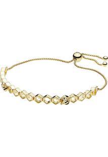 Bracelete Shine Abelha - Dourado- Pandorapandora