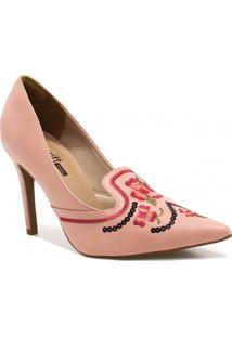 Sapato Zariff Shoes Scarpin Bordado