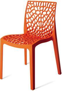Cadeira Gruver Polipropileno Laranja - 15117 Sun House