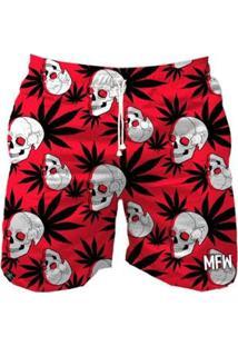 Bermuda Maromba Fight Wear Crazy Skull Masculina - Masculino-Vermelho