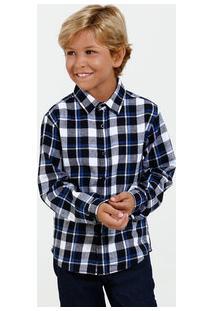 Camisa Infantil Xadrez Flanelada Marisa