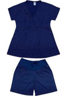 Pijama Luna Cuore Gestante Com Abertura 017 - Feminino