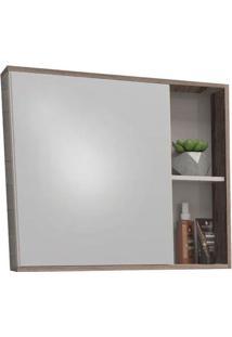 Espelheira Para Banheiro 60Cm Mdf Caeté Nude E Tamarindo 60X52,4X13,2Cm - Cozimax - Cozimax