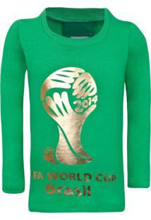 Camiseta Licenciados Copa Do Mundo Fifa Ouro Juvenil Verde