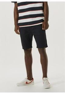 Bermuda De Sarja Com Cadarço - Kg2Kn10Si3 Masculina - Masculino-Preto