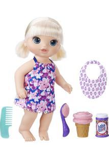 Boneca Baby Alive Hasbro Sobremesa Mágica Loira