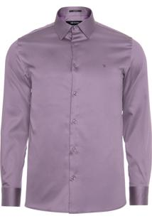 Camisa Masculina Cetim - Roxo
