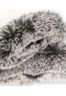 N.Peal Par De Luvas Com Acabamento De Pele - Branco
