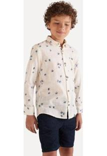 Camisa Sm Manga Longa Eco Inv20 Reserva Mini Masculina Infantil - Masculino-Preto+Bege