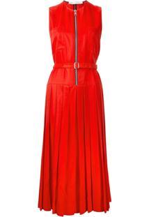 Victoria Beckham Vestido Com Pregas - Vermelho