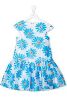 Mi Mi Sol Vestido Com Estampa Floral - Azul