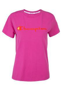 Camiseta Champion Clássica Y07418 - Feminina - Rosa Escuro