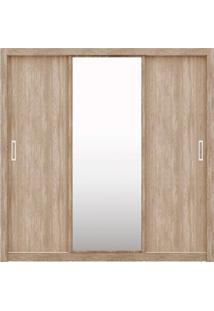Guarda-Roupa 3 Portas De Correr Residence - Demóbile Nogal Com Vanilla Touch
