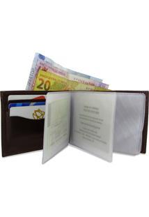 Carteira De Couro Dollar – Marrom Café