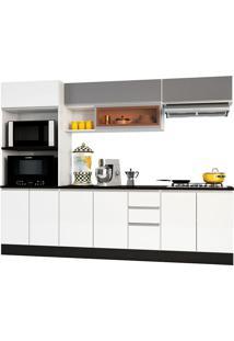 Cozinha Modulada 7 Peças Evidence-Poliman - Branco / Prata