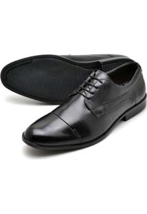 Sapato Social Couro Bico Arredondado Reta Oposta Masculino - Masculino