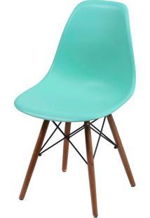 Cadeira Eames Polipropileno Verde Tifanny Base Escura - 44835 - Sun House