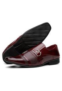 Sapato Social Masculino Lorenzzo Lopez Verniz Vinho