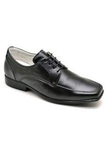 Sapato Masculino Social Elegante Em Couro - Preto 015Rt