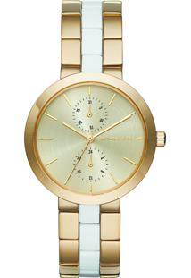 Relógio Analógico Michael Kors Garner Feminino - Mk64725Dn Dourado