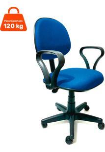 Cadeira De Escritório Secretária Mazikeen Ajustável Azul