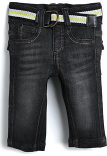 Calça Jeans Tigor T. Tigre Menino Preto