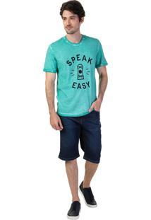 Bermuda Masculina Jeans Slim Valdir Azul