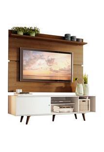 Rack Madesa Dubai E Painel Para Tv Até 65 Polegadas Com Pés Branco/Rustic 095Z Cor:Branco/Rustic
