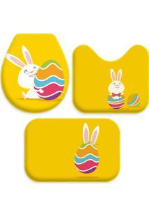 Jogo Tapetes Love Decor Para Banheiro Cute Yellow Único