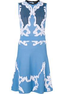a529bf49c Versace Vestido Bordado  Baroque  - Azul