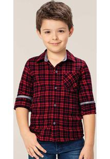 Camisa Vermelha Xadrez Tal Pai & Tal Filho