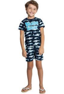 Pijama Com Dependencia Azul Menino