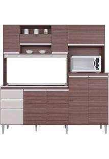 Cozinha Com 9 Portas Mirela Capuccino/Offwhite - Lc Móveis