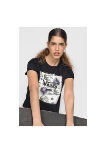 Camiseta Vans Boxed Floralz Preta