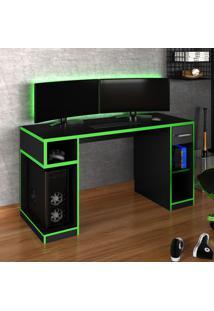 Mesa Gamer Idl Xp 1000 Pro 1 Gaveta Black/Verde - Móveis Germai