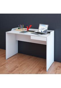 Mesa Para Computador Com 1 Gaveta Slim – Artany - Branco