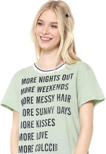 Camiseta Colcci More Verde