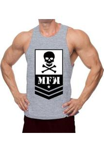 Regata Nadador Mfw Army Skull Masculina - Masculino
