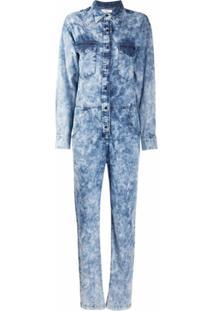 Isabel Marant Étoile Jaqueta Jeans Com Efeito De Lavagem - Azul