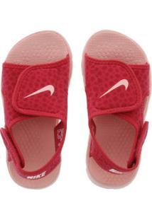 Papete Nike Sunray Adjust 4 Feminina - Infantil - Coral