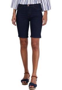 Bermuda Jeans Ciclista Pernambucanas Feminina - Feminino-Azul Escuro